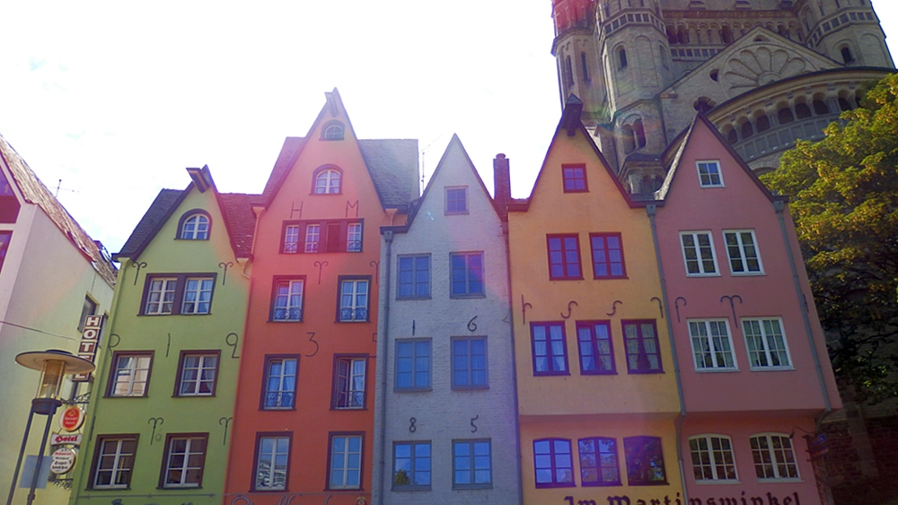 Cologne colourful houses
