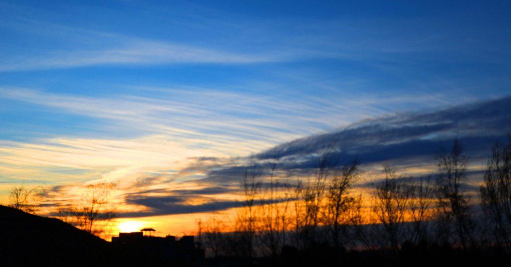 sunset belgium